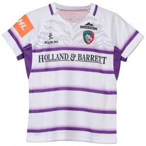 Leicester Tigers Alternate Replica Jersey 2018/19 - White/Purple - Junior