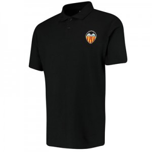 Valencia CF Embroidered Crest Polo - Black - Mens