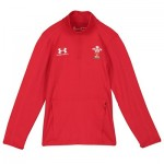 Welsh Rugby 1/4 Zip Long Sleeve Training Top - Youth - Red